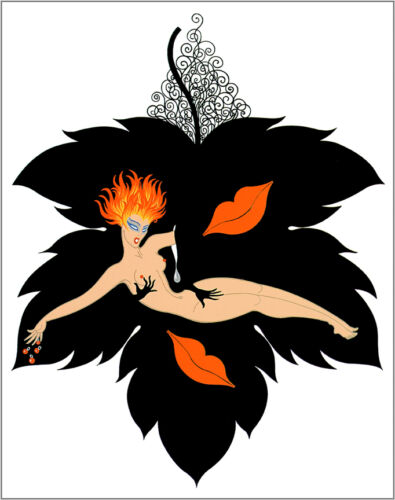 The Seven Deadly Sins, Lust  by Erte  Paper Print Repro