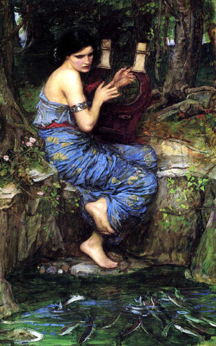 The Charmer   by John William Waterhouse  Giclee Canvas Print Repro