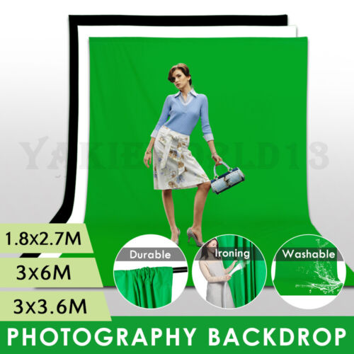 LARGE 3.6/6M Photography Studio Video Muslin Backdrop Photo Background Back Drop
