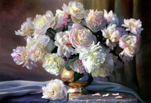 Oil Painting HD Print Picture Still Life Flowers on canvas 16x24 Inches L141
