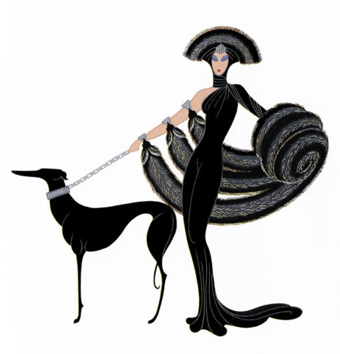 Symphony in Black  by Erte  Giclee Canvas Print Repro