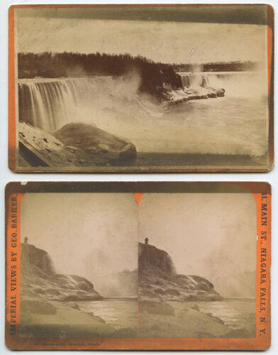 NIAGARA FALLS, NIAGARA FALLS N.Y. - SET OF 3 VINTAGE CAB PHOTOS & STEREOVIEWS