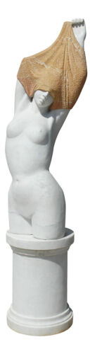 Grande Scultura in Marmo Statua Donna Statue Marble Sculpture Arts Antiques Home