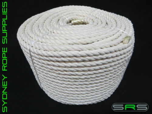 10MM 3 STRAND COTTON ROPE SOLD PER METRE