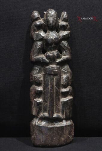 Old Carved Wooden Doll - Mother Goddess - Odisha, India