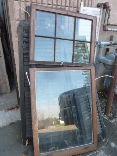 """c1900 ANTIQUE 6 pane over 1 window SALVAGed from local victorian home 30"""" wide"""