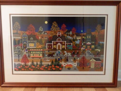 Jane Wooster Scott Autumnal Reflections - Serigraph S&N - Framed & Matted