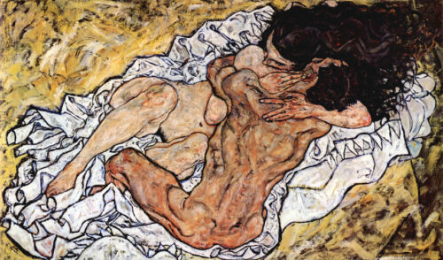 The Embrace  by Egon Schiele   Giclee Canvas Print Repro