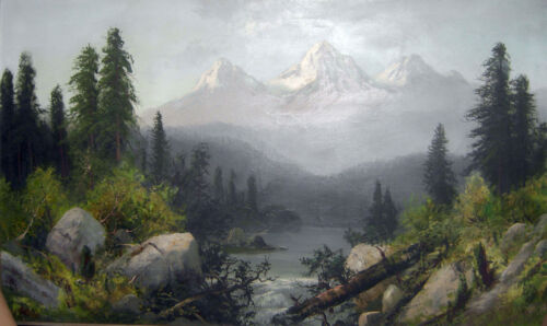 The Three Sisters, Oregon  by Frederick F Schafer   Giclee Canvas Print Repro