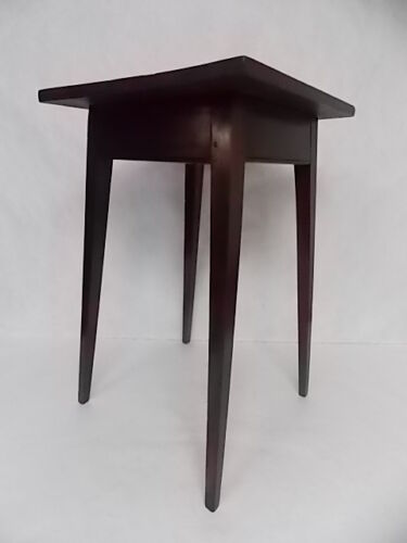PRIMTIVE ANTIQUE HEPPLEWHITE STYLE TAPERED LEG SIDE FERN TABLE PLANT STAND