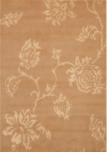 Beige 6' x 8' Indo Nepal Rug Hand Knotted Oriental Rug