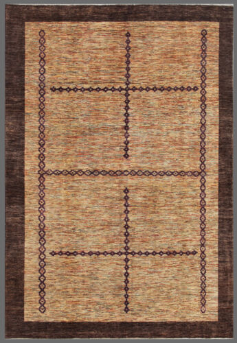 Purple 9' x 12' Gabbeh Rug Hand Knotted Oriental Rug