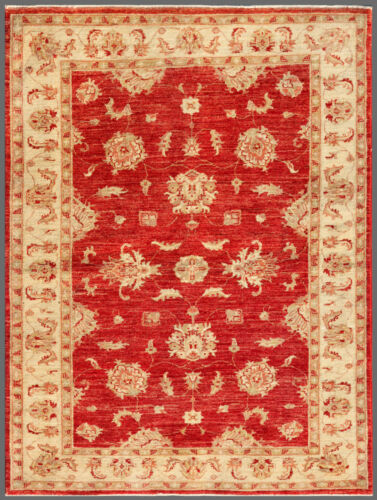 Red 4' x 5' Peshawar Rug Hand Knotted Oriental Rug