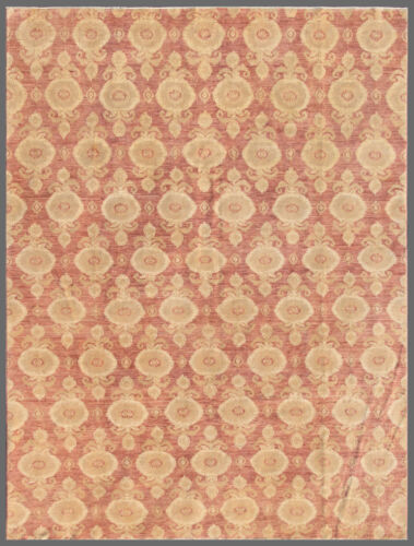 Pink 9' x 12' Peshawar Rug Hand Knotted Oriental Rug