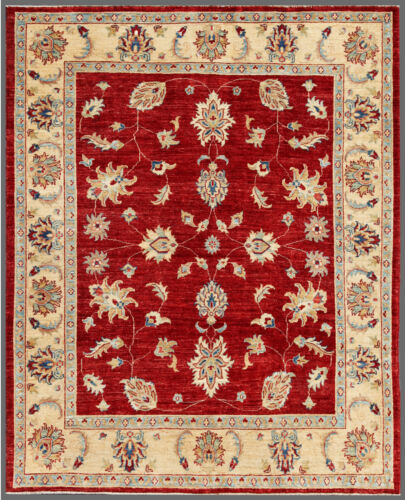 Red 5' x 6' Peshawar Rug Hand Knotted Oriental Rug