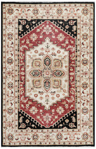 Red 3' x 5' Peshawar Rug Hand Knotted Oriental Rug