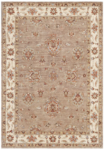 Green 5' x 7' Peshawar Rug Hand Knotted Oriental Rug