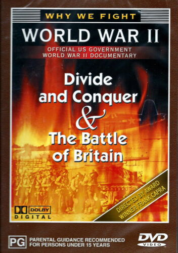 Divide And Conquer / Battle Of Britain - Documentary / WWII / Military - NEW DVD