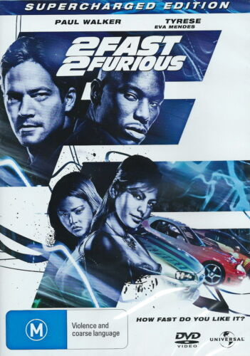 2 Fast 2 Furious - Action / Thriller - Paul Walker, Tyrese, Eva Mendes - NEW DVD
