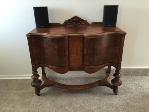 ANTIQUE VINTAGE 1931 BUFFET BY HANOVER OF PENNSYLVANIA BLACK WALNUT EXCELLENT