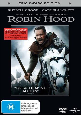 Robin Hood - Action 2 Disc Edition - Russell Crowe, Cate Blchetant - NEW DVD