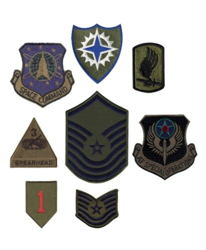 Subdued Military Assorted Military Patches - 50 Pcs - Made In Usa