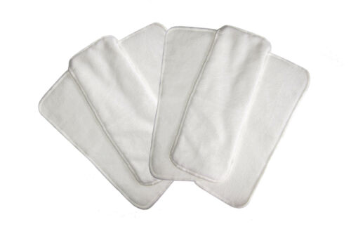 6 x Microfibre inserts to suit Modern Cloth Nappies (MCN)