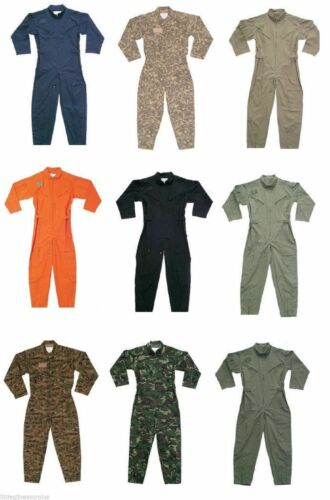 Camouflage Military Flight Suit Air Force Style Flight Coveralls Choose Size