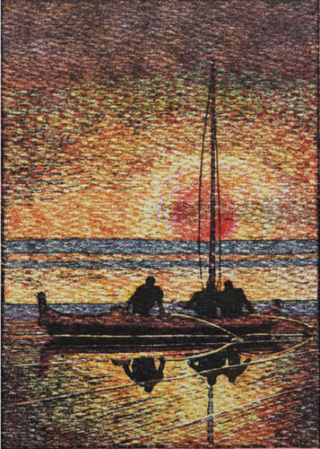 Sunset at Christmas Eve...  by Arman Manookian   Giclee Canvas Print Repro