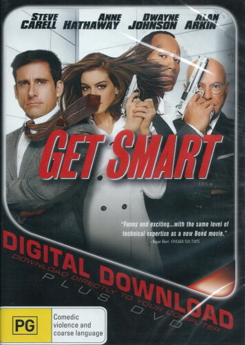 Get Smart - Action / Comedy / Violence - Steve Carell, Anne Hathaway - NEW DVD