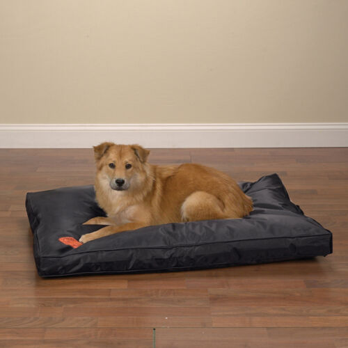 Heavy Duty Dog Bed Chew Resistant Indoor Outdoor Tough Soft Nylon Teflon Beds