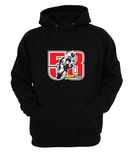 Marco Simoncelli 58 INSPIRED `ART` Hoodie  BLACK small to xxl