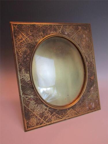 *VERY LARGE* ANTIQUE TIFFANY STUDIOS BRONZE PICTURE FRAME in GRAPEVINE PATTERN