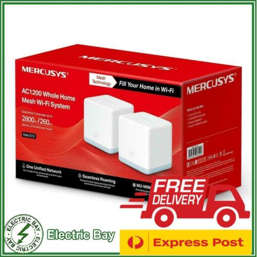 Mercusys Halo S12 AC1200 Dual-Band Wireless Home Mesh Wi-Fi System (2-pack) NEW