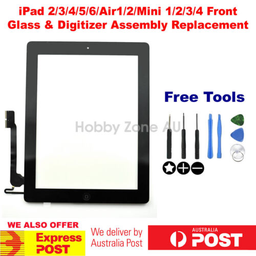 iPad 2/3/4/5/6/Air/Mini2/3/4 2018/17 Digitize Touch Screen Glass Replacement Kit