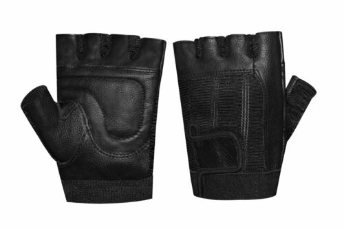 Weight Lifting Padded Leather Training Gym Exercise Cycling Wheelchair Gloves
