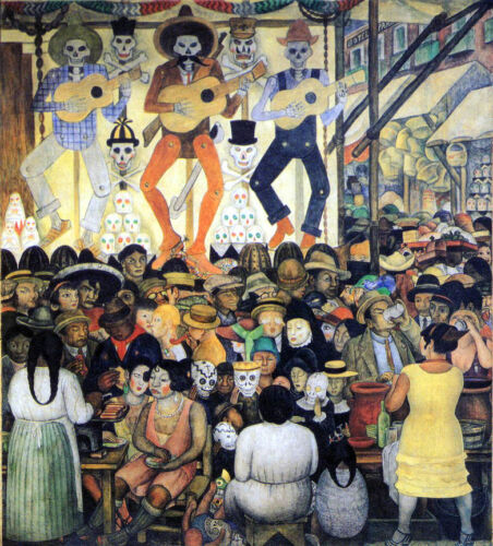The Day of the Dead by Diego Rivera Giclee Canvas Print Repro