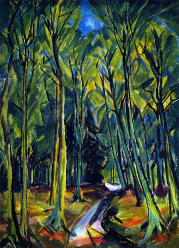 Path in the Forest  by Erich Heckel   Giclee Canvas Print Repro