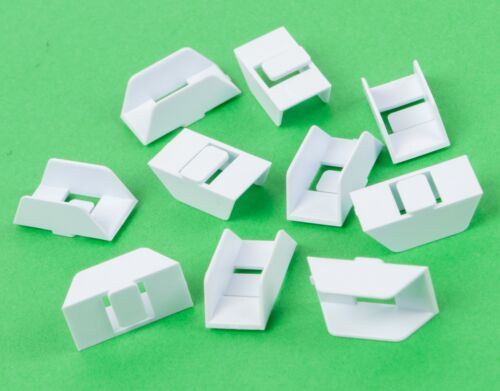Film clips / Filmclips (white)- for 8mm film - super8 / regular8 (10 pieces)