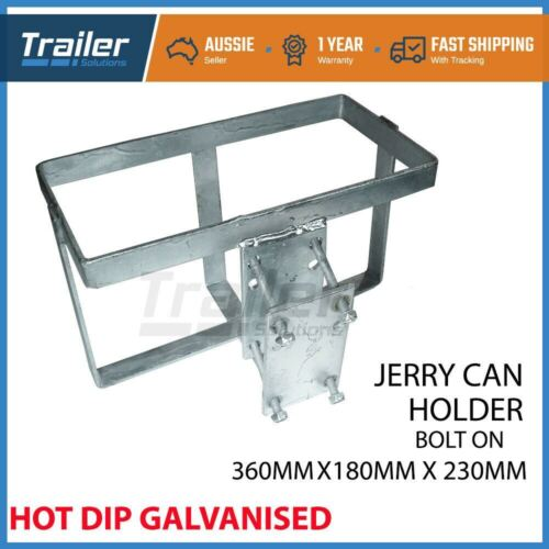 1x JERRY CAN HOLDER GALVANISED BOLT-ON OFFROAD CAMPING TRAILER CARAVAN CAMPER