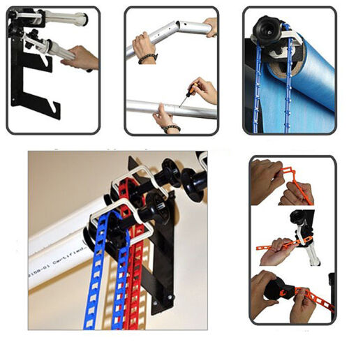 3-Roller Backdrop Wall Ceiling Mount Bracket Photography Background Support Kit