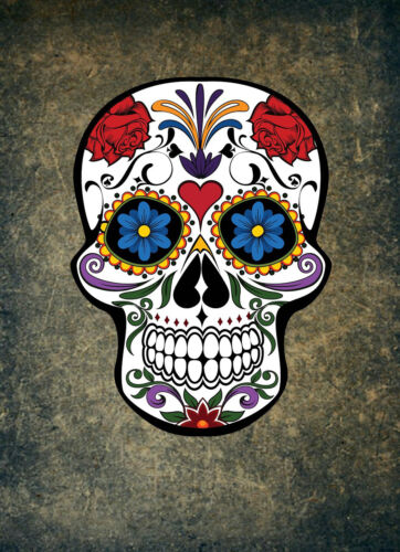 DAY OF THE DEAD SKULL POSTER PRINT STYLE A 36x26 HI RES 9 MIL PAPER