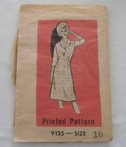 Vintage 50s Mail Order Jumper Blouse Sewing Pattern 9135 Complete 16