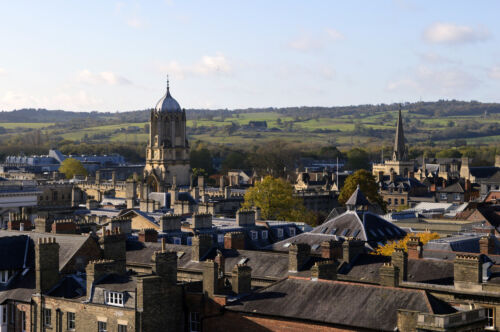 OXFORD ENGLAND SKYLINE CITYSCAPE POSTER 24x36 HI RES