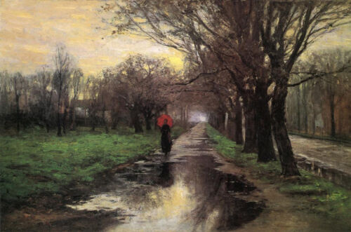 Meridian Street, Thawing Weather  by T C Steele  Giclee Canvas Print Repro