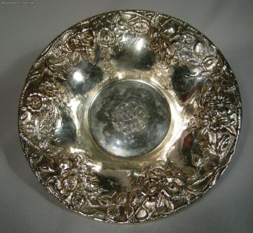 S. Kirk and Son Co Sterling Silver Repousse Floral Candy Bowl