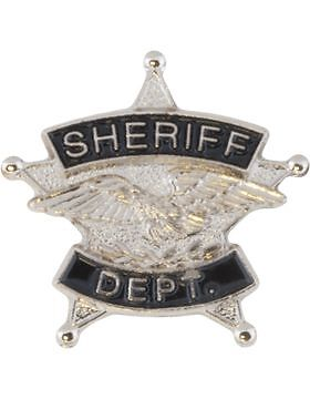 Tie Tac (U-T101S) Sheriff Department Silver with Black EnamelOther Militaria - 135