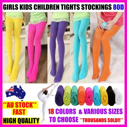 GIRLS KIDS DANCE BALLET TIGHTS STOCKINGS LEG PANTYHOSE HOSIERY OPAQUE 80 - S,M,L <br/> **THOUSANDS SOLD!! ** HIGH QUALITY CONCERT SHOW COSTUME