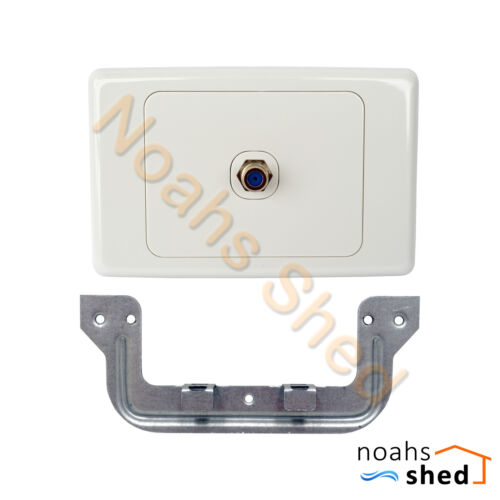 F-Type Wall Plate TV RF Aerial Antenna White suits Foxtel Wallplate