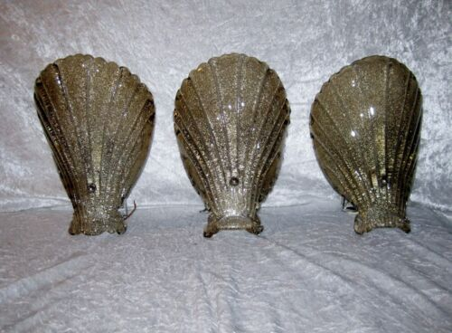 Murano shell Sonces Wall lamp Wonderful Vintage